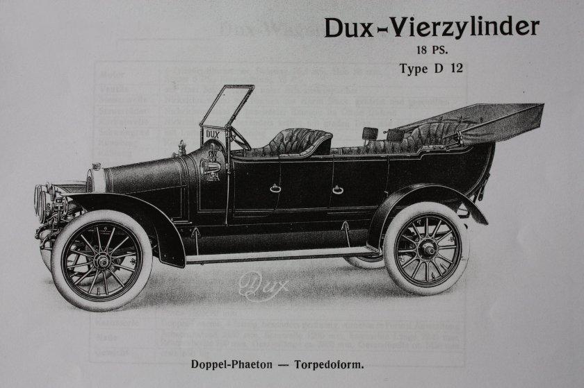 Dux D12 Doppel-Phaeton Torpedoform, Jahrgang 1911