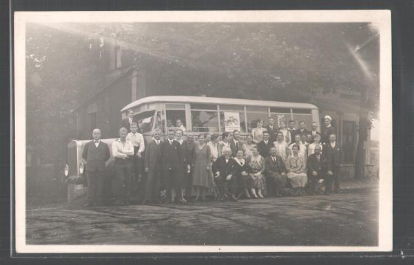 Foto-AK-Duerkopp-LKW-Omnibus-Reisegaeste