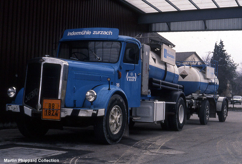 Trucks FBW Truck en Trailor 1960's Swiss