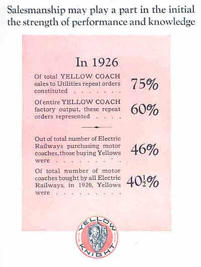 1927 Yellow Coach ad