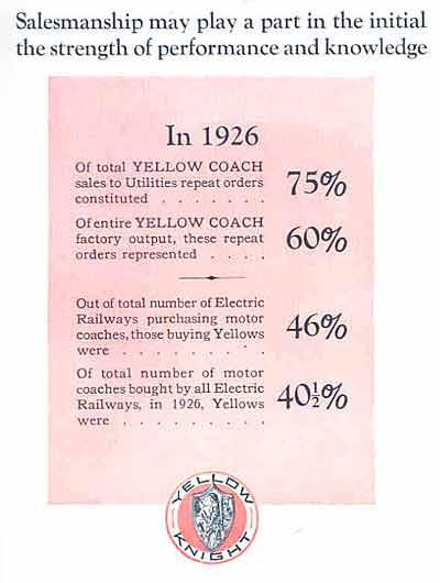 1927 Yellow Coach ad