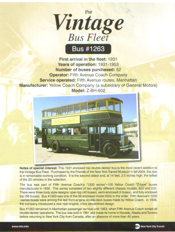 1931 GM Yellow Coach Z-BH-602