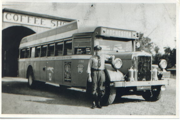 1932 Yellow Coach 670 at Belvidere Junction, NJ Greyhound