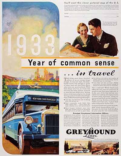 1933 Yellow Coach Z-250 ad