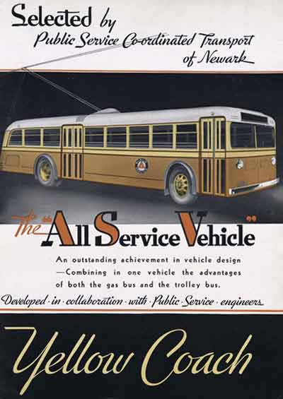 1934 Yellow Coach ad
