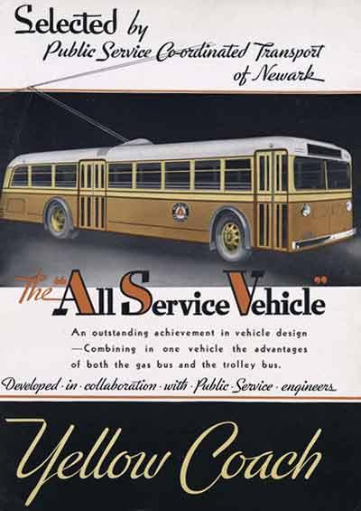 1934 Yellow Coach ad
