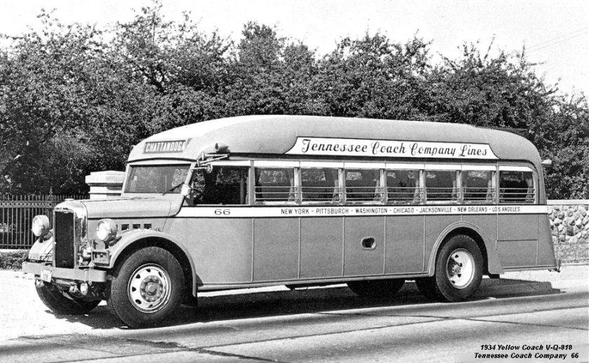 1934 Yellow Coach V-Q-818 Tennesee Coach Company 66