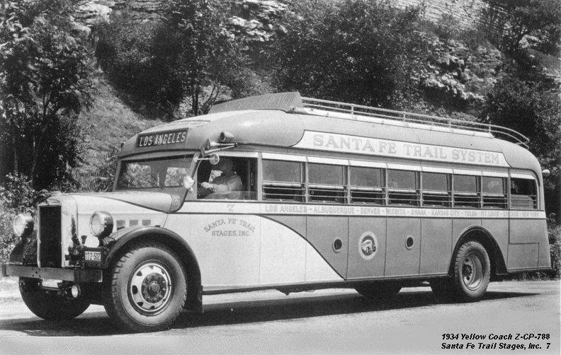1934 Yellow Coach Z-GP-788 Santa Fé Trail Stages Inc 7