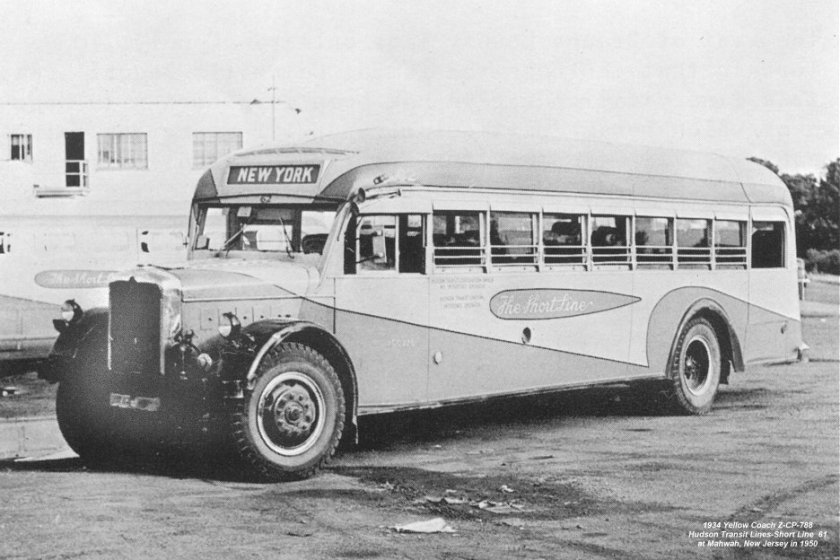 1934 Yellow Coach -ZCP 788 still in use at Mahwah, NJ