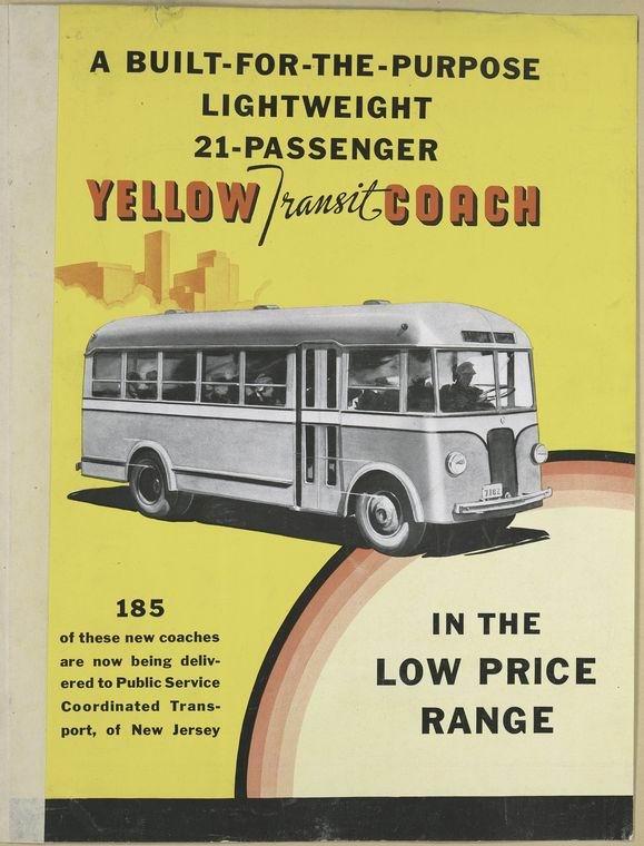 1935 GM Yellow Transit Coach -in the low price range. [Advertisement...