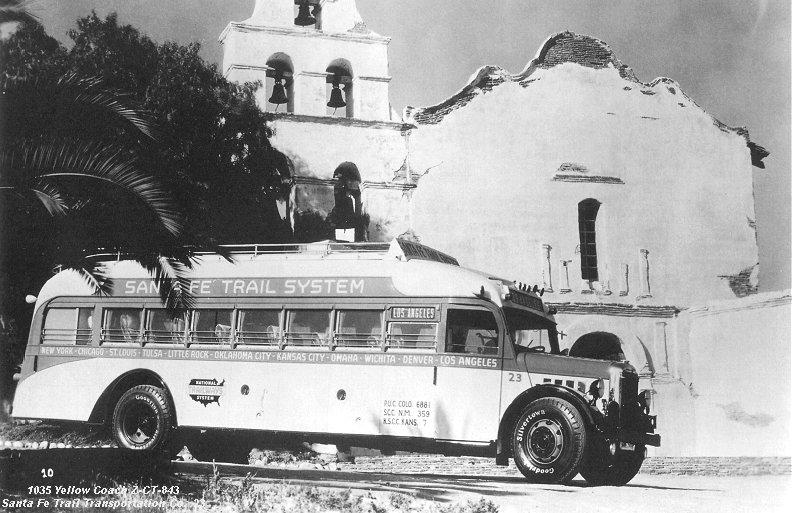 1935 Yellow Coach 2-CT-843 Santa Fé Trail ansport