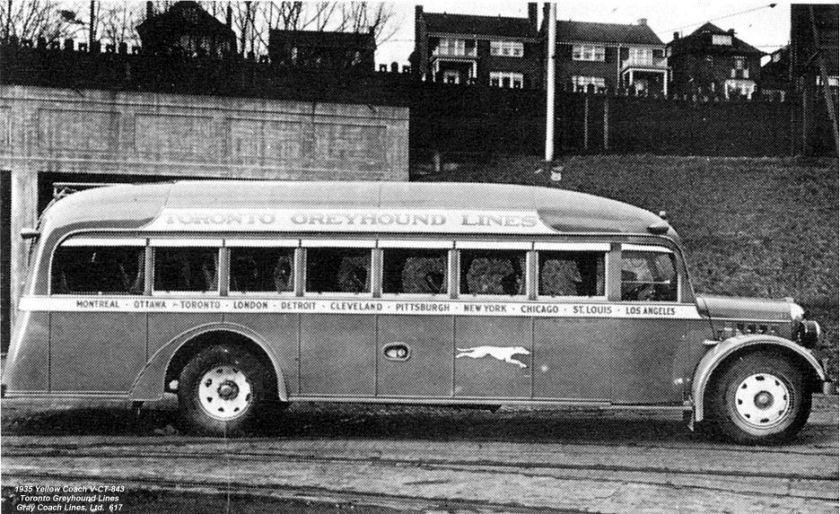 1935 Yellow Coach C-CT-843 Toronto Greyhound Lines-617