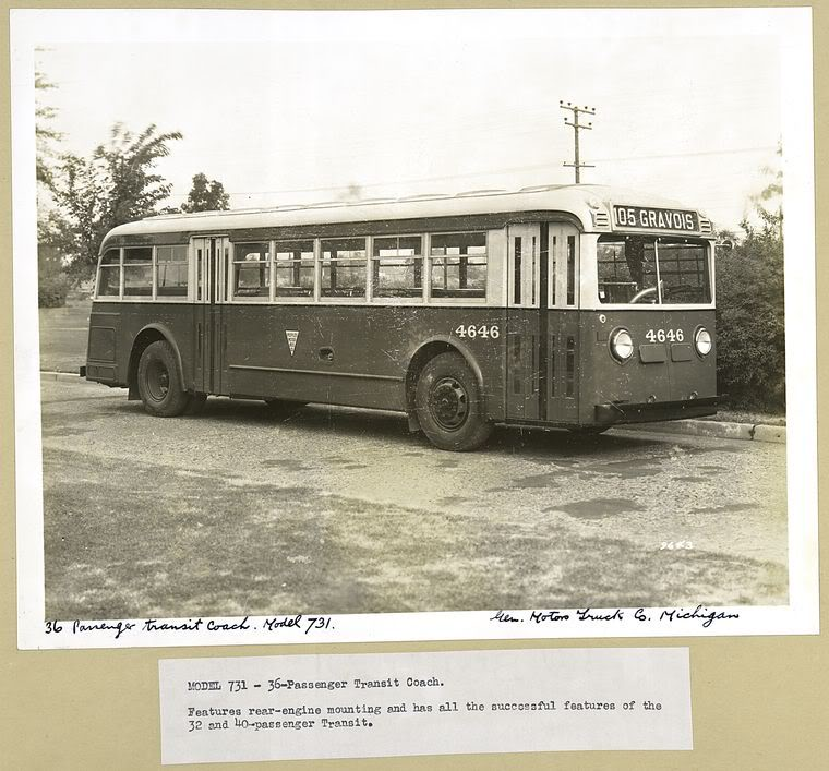 1935 Yellow Coach Model 731