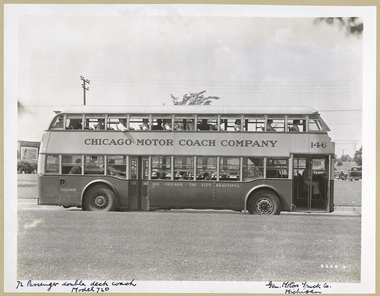 1936 72 Passenger Double Deck Coach - Model 720 - Chicago Motor C