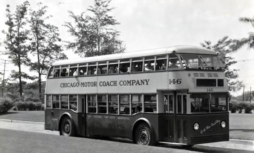 1936 CHICAGO Double Decker 72 pass. 146