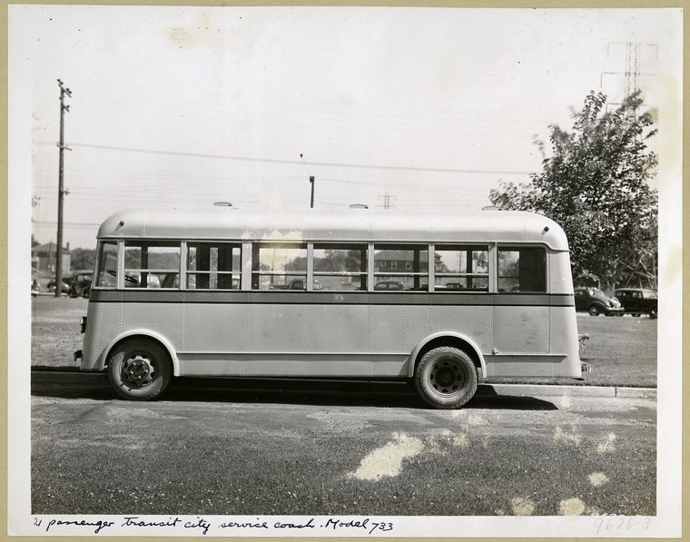 1936 GM 21 Passenger Transit City Service Coach - Model 733