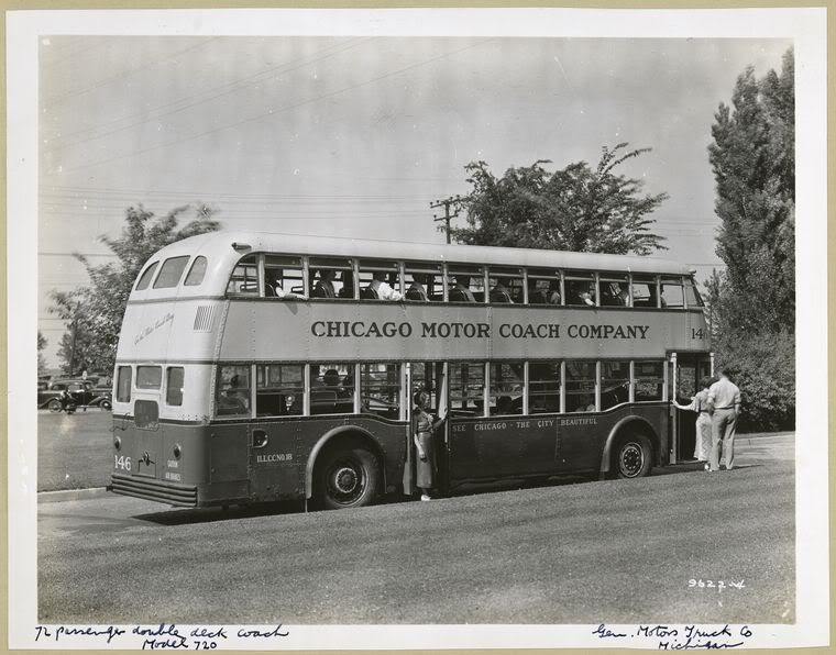 1936 GM Yellow Coach model 720 and 735