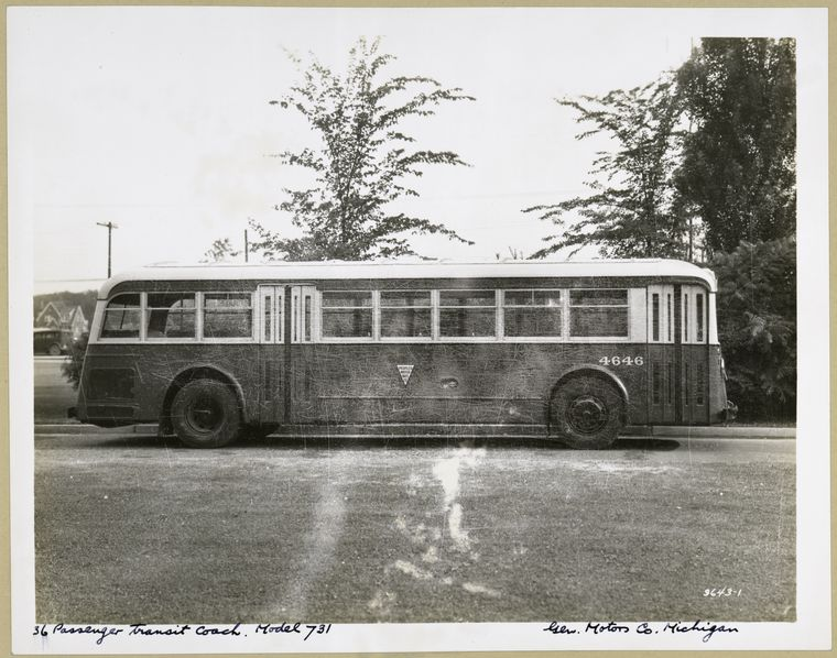 1936 GMC 36 Passenger Transit Coach. Model 731 - exterior view.