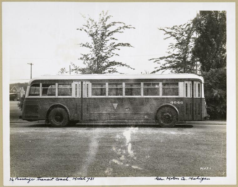 1936 GMC 36 Passenger Transit Coach. Model 731 - exterior view.