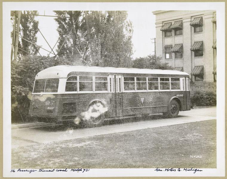 1936 GMC 36 Passenger Transit Coach. Model 731 - exterior view