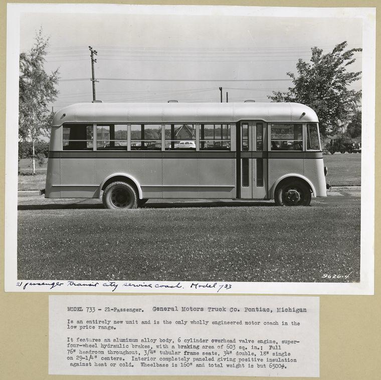 1936 GMC Model 733 - 21 Passenger  Low priced light weight co...