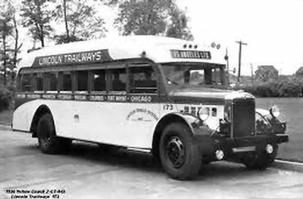 1936 Yellow Coach 2-ct Trailways 173