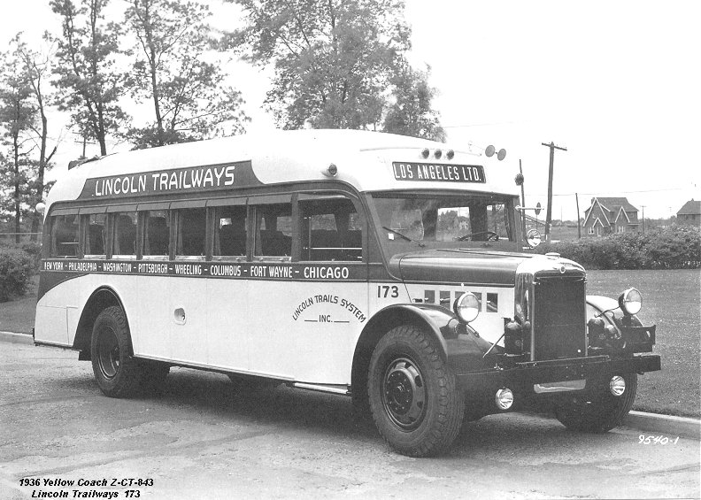 1936 Yellow Coach Z-CT-843 Lincoln Trailways