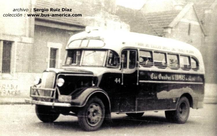 1944 Morris Commercial LC 3 - Gnecco - Omnibus de Lomas