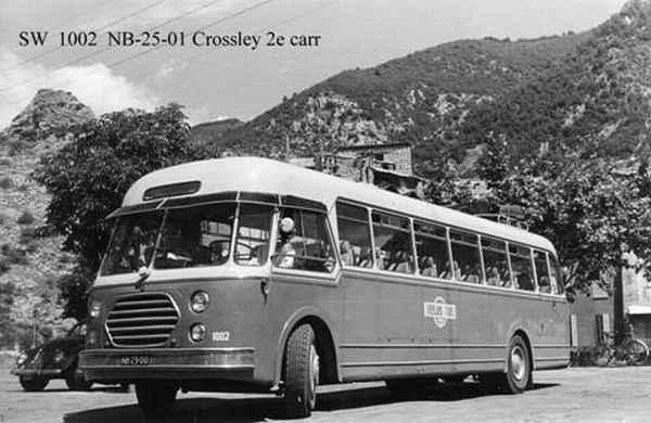 1947 Crossley SD 42-1 uit 1947 welke bijlevering voorzien was van een Schelde carrosserie