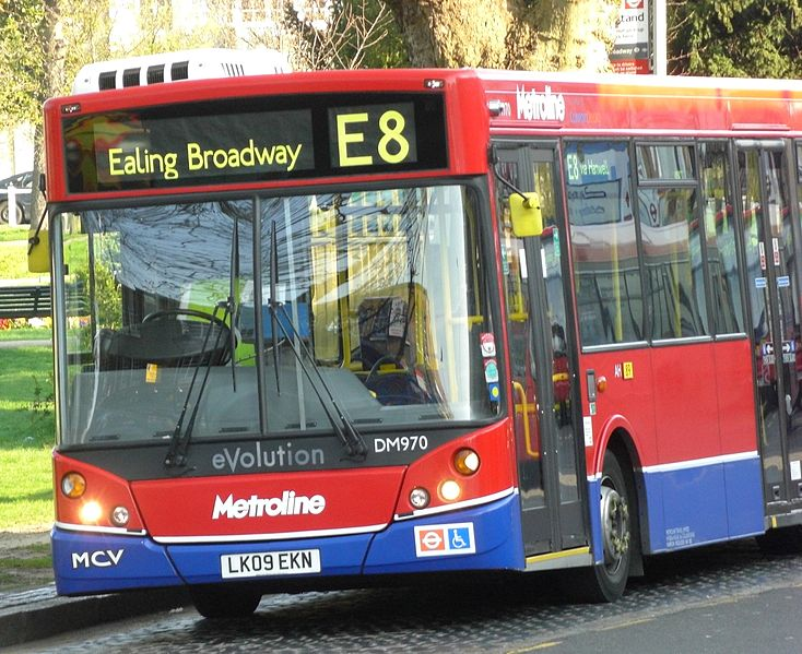 Metroline bus DM970 Alexander Dennis Enviro 200 MCV Evolution