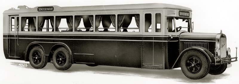 1931 Werkfoto eines Dreiachsers von Henschel und Credé aus dem Jahr 1931