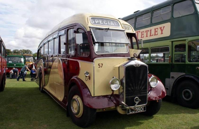 1934 Albion Valiant PV70 LJ9501, a post war Harrington body