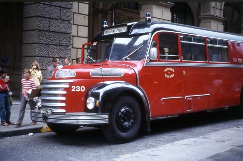 1939 Gräf & Stift, Wagen der Feuerwehr