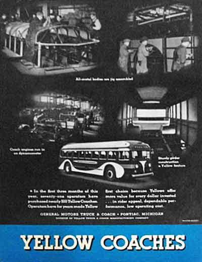 1939 Yellow Coach ad