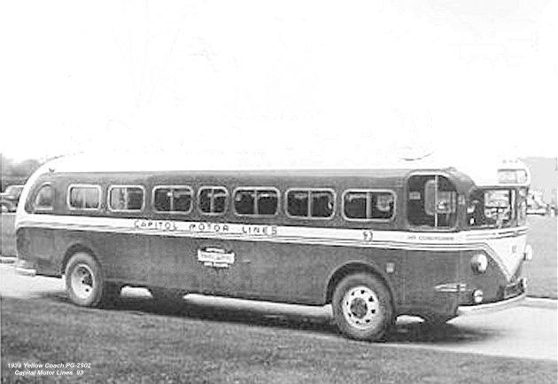 1939 Yellow Coach PG-2902 Capital Motor Lines 93