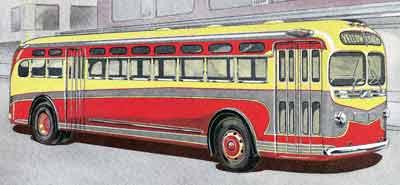 1940 Yellow Coach TG 4501