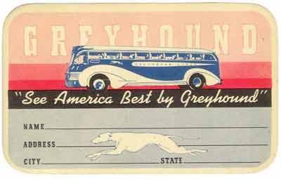 1941 Yellow Coach  743 tag