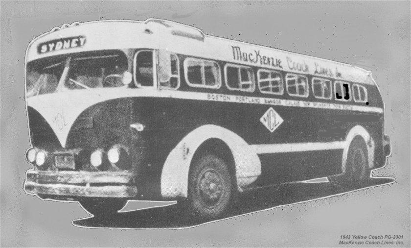 1943 GM PG-3301 MacKenzie Coach Lines Inc