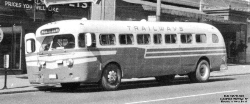 1946 GM PD-2903 Evergreen Trailways 40