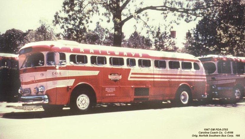 1947 GM PDA-3703 Carolina Coach Co C-4166 Norfolk