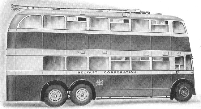 1947 Guy first post war Trolley Bus Belfast Corporation