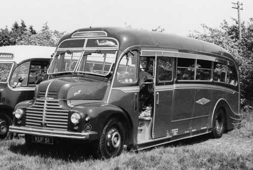 1947 Harrington bodied Leyland Comet KUF51 1047