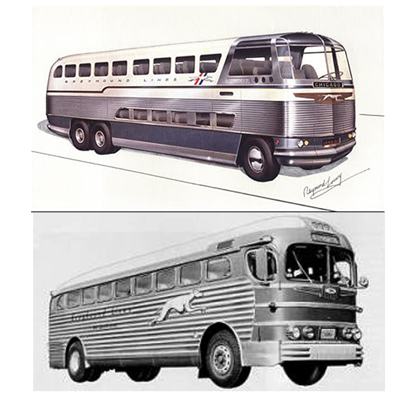 1947 Raymond Loewy GM Greyhound bus IIHIH