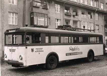 1948 o-bus hentschel alt abstell