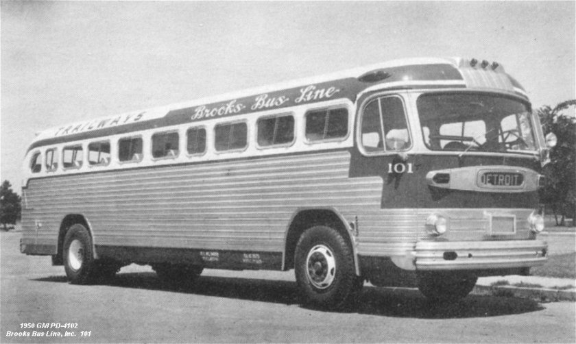 1950 GM PD-4102 Brooks Bus Line.Inc 101