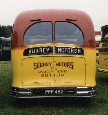 1950 Harrington Coach Rear in the early fifties b