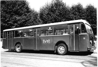 1950 Saurer Hess Typ 4ZP54L CT1DL Nr. 16. BVB Wagen Nr. 16