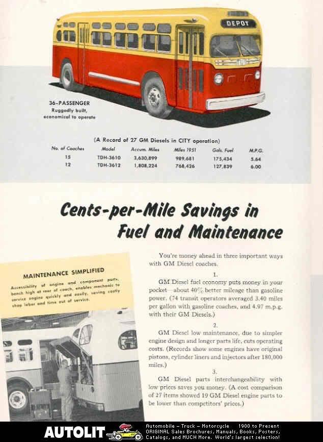 1951 GM 52 P G2 TDH 3610 en 3612