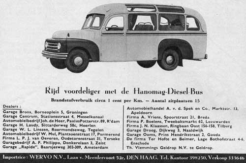 1951 hanomag-wervo. advertentie