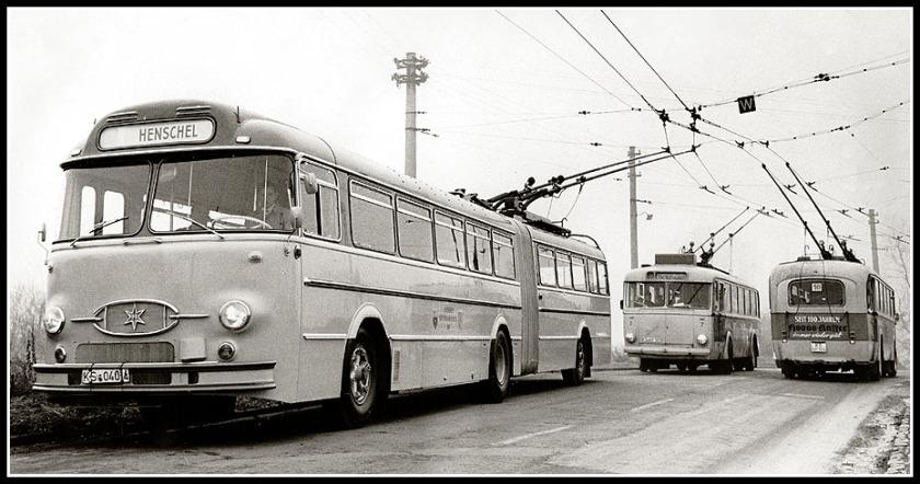 1953 Probefahrten neuer Henschel-Obusse auf dem Kasseler Netz